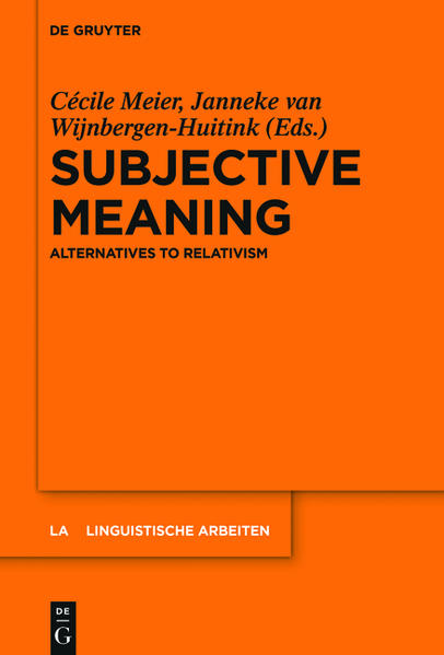 Subjective Meaning - Coverbild