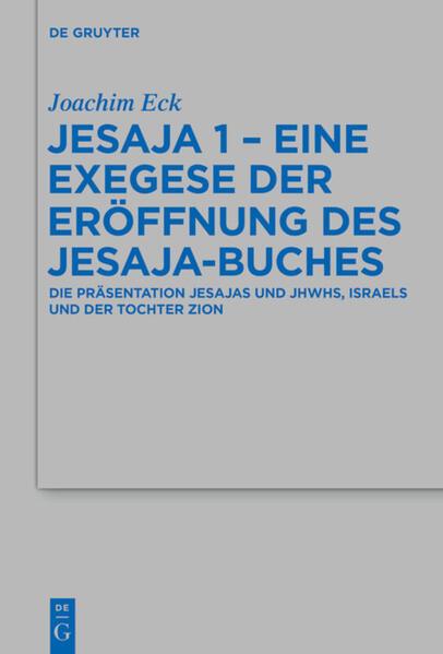 Jesaja 1 - Eine Exegese der Eröffnung des Jesaja-Buches - Coverbild