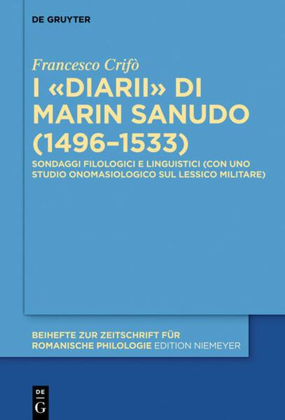 I «Diarii» di Marin Sanudo (1496–1533) - Coverbild