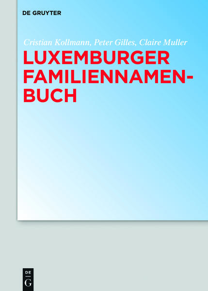 Luxemburger Familiennamenbuch - Coverbild