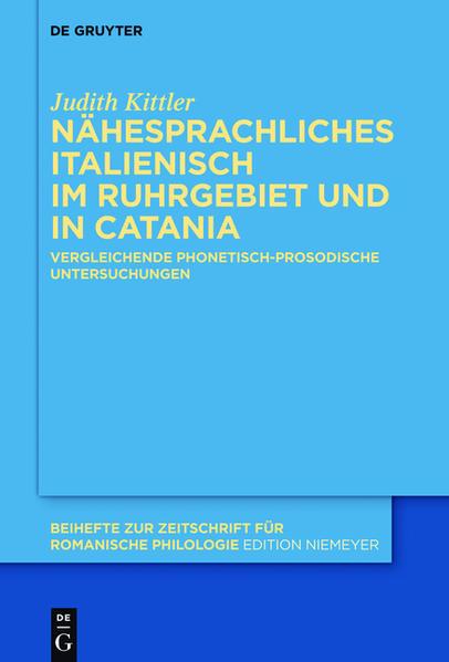Nähesprachliches Italienisch im Ruhrgebiet und in Catania - Coverbild