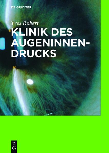 Klinik des Augeninnendrucks - Coverbild