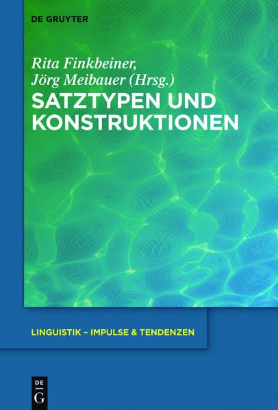 Satztypen und Konstruktionen - Coverbild