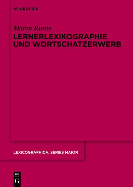 Lernerlexikographie und Wortschatzerwerb - Coverbild