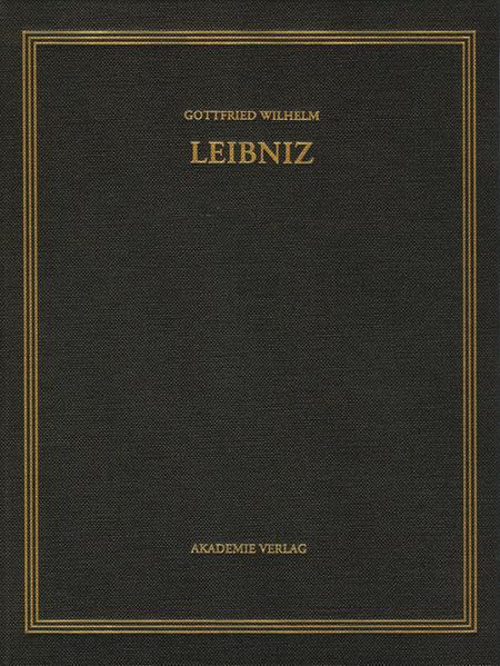 Gottfried Wilhelm Leibniz: Sämtliche Schriften und Briefe. Mathematischer,... / 1699-1701 - Coverbild