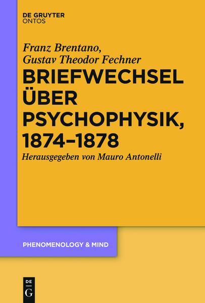 Briefwechsel über Psychophysik, 1874–1878 - Coverbild