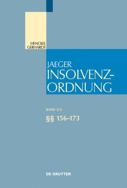 Insolvenzordnung / §§ 156-173 - Coverbild