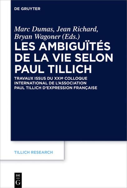 Les ambiguïtés de la vie selon Paul Tillich - Coverbild