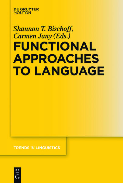 Functional Approaches to Language - Coverbild