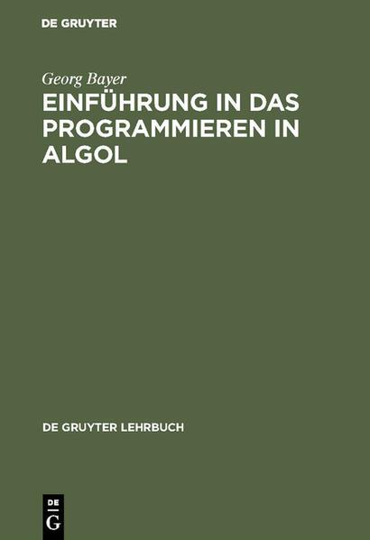 Einführung in das Programmieren in ALGOL - Coverbild