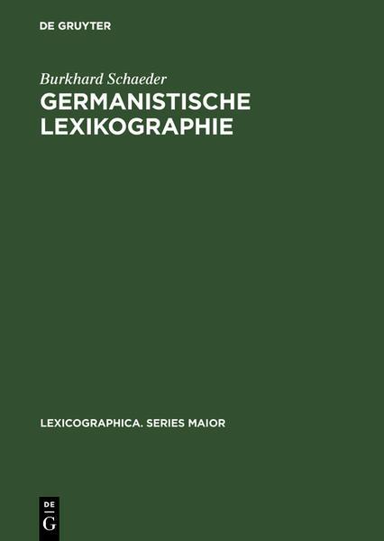Germanistische Lexikographie - Coverbild