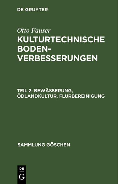 Bewässerung, Ödlandkultur, Flurbereinigung - Coverbild