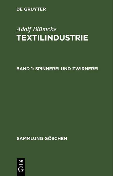 Spinnerei und Zwirnerei - Coverbild