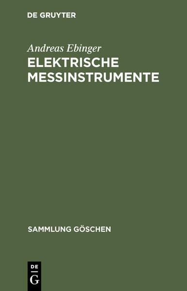 Elektrische Meßinstrumente - Coverbild