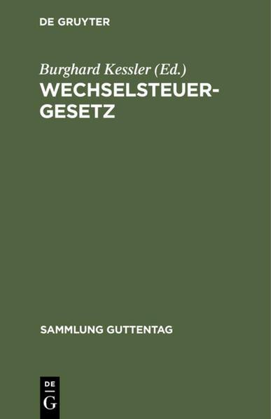Wechselsteuergesetz - Coverbild