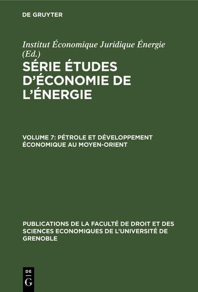 Pétrole et développement économique au Moyen-Orient - Coverbild