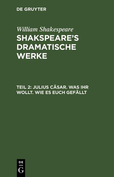 [Dramatische Werke] Shakspeare's dramatische Werke. Übersetzt von August Wilhelm Schlegel - Coverbild