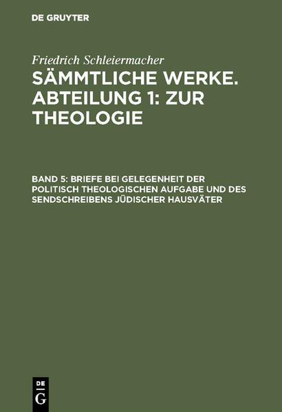 [Sämmtliche Werke] Friedrich Schleiermacher's sämmtliche Werke - Coverbild