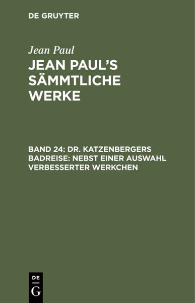 [Sämmtliche Werke] Jean Paul's sämmtliche Werke - Coverbild