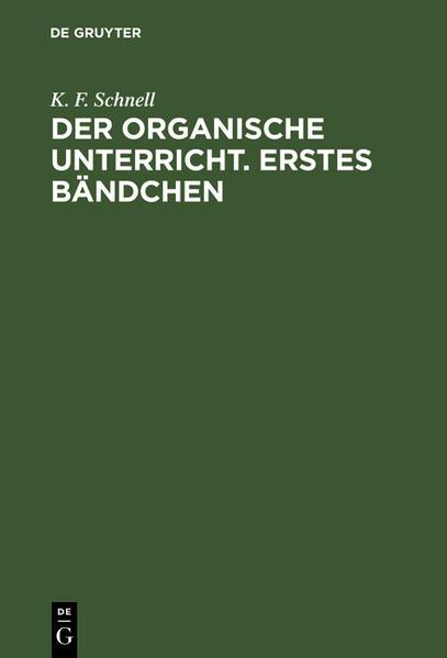 Der Organische Unterricht - Coverbild