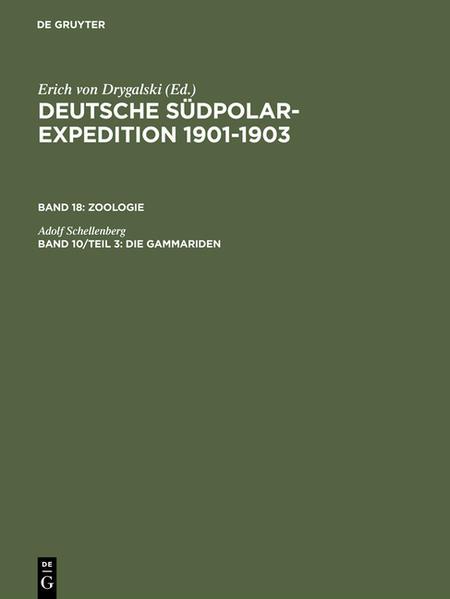 Deutsche Südpolar-Expedition 1901-1903. Zoologie / Die Gammariden - Coverbild