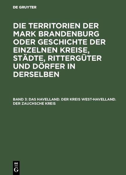 Das Havelland. Der Kreis West-Havelland. Der Zauchsche Kreis - Coverbild