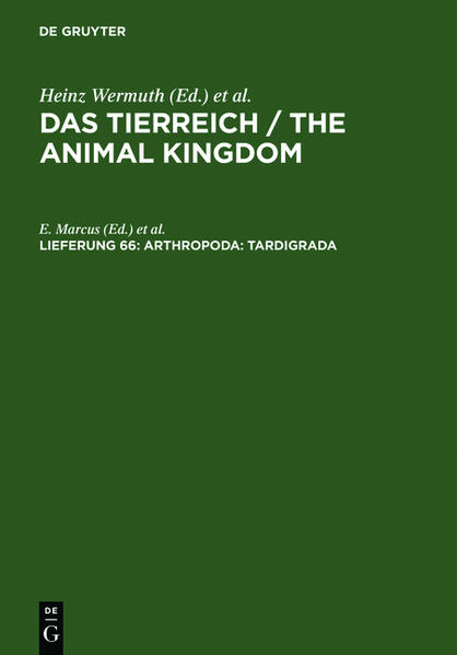 Das Tierreich / The Animal Kingdom / Arthropoda: Tardigrada - Coverbild