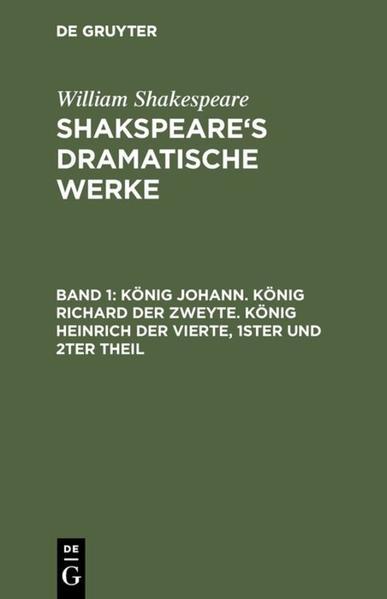 Shakspeare's dramatische Werke - Coverbild