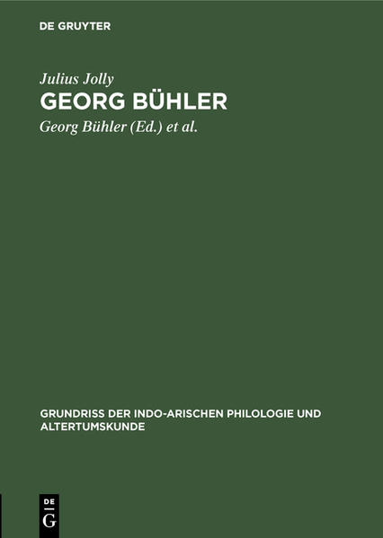 Georg Bühler - Coverbild