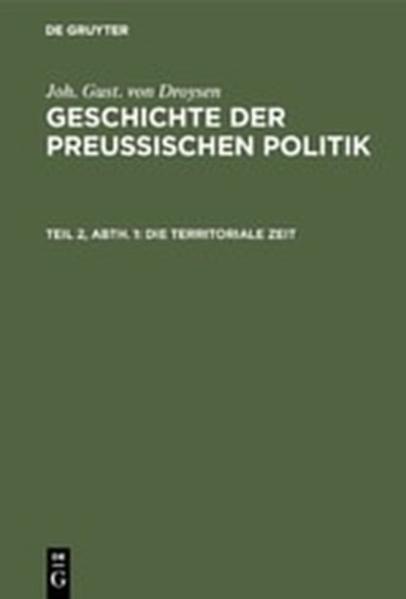 Geschichte der preußischen Politik - Coverbild