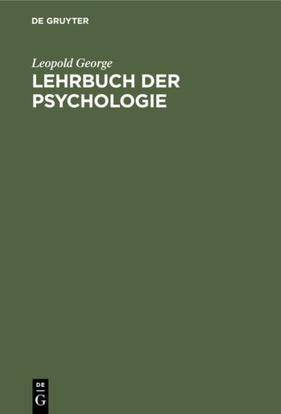 Lehrbuch der Psychologie - Coverbild