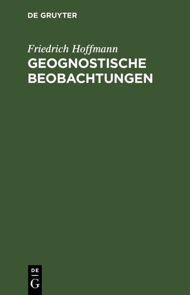 Geognostische Beobachtungen - Coverbild