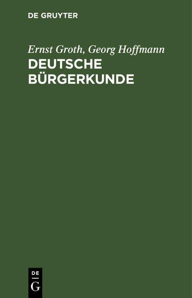 Deutsche Bürgerkunde - Coverbild