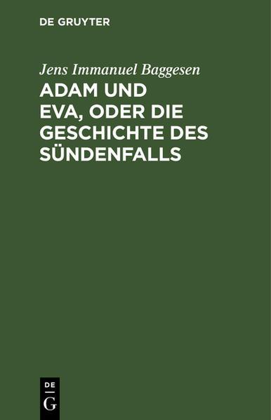 Adam und Eva, oder die Geschichte des Sündenfalls - Coverbild