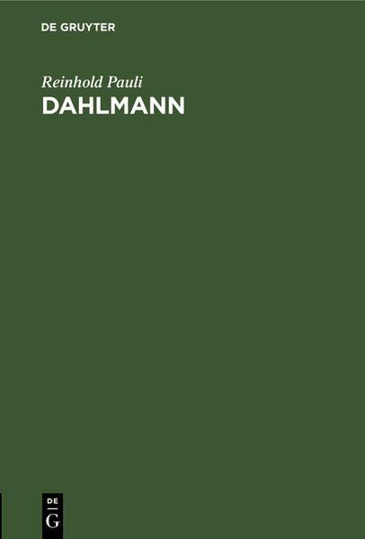 Dahlmann - Coverbild