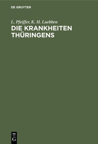 Die Krankheiten Thüringens - Coverbild