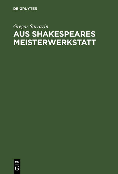 Aus Shakespeares Meisterwerkstatt - Coverbild