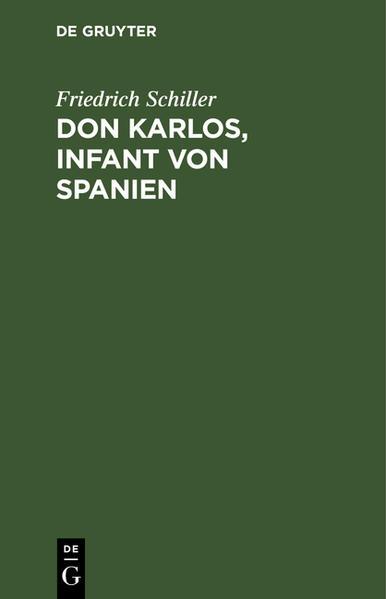 Don Karlos, Infant von Spanien - Coverbild