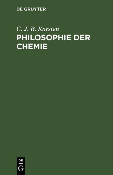 Philosophie der Chemie - Coverbild