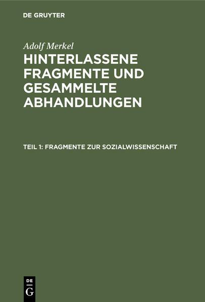 Fragmente zur Sozialwissenschaft - Coverbild