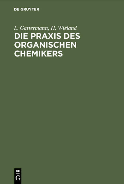 Die Praxis des organischen Chemikers - Coverbild