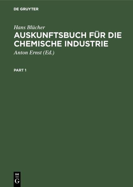 Auskunftsbuch für die chemische Industrie - Coverbild