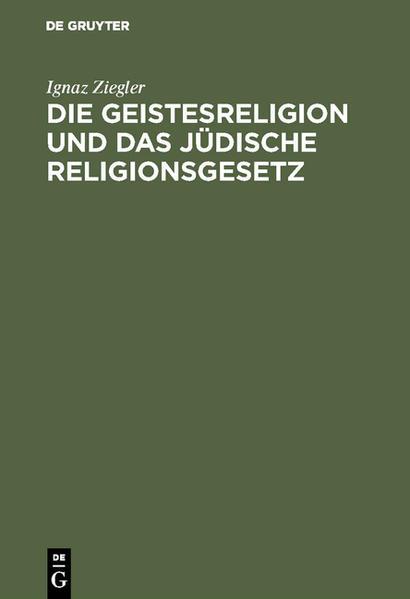 Die Geistesreligion und das jüdische Religionsgesetz - Coverbild