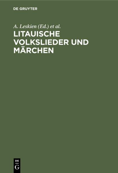 Litauische Volkslieder und Märchen - Coverbild