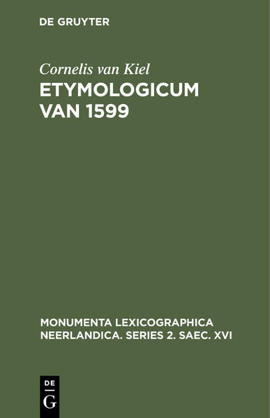 Etymologicum van 1599 - Coverbild