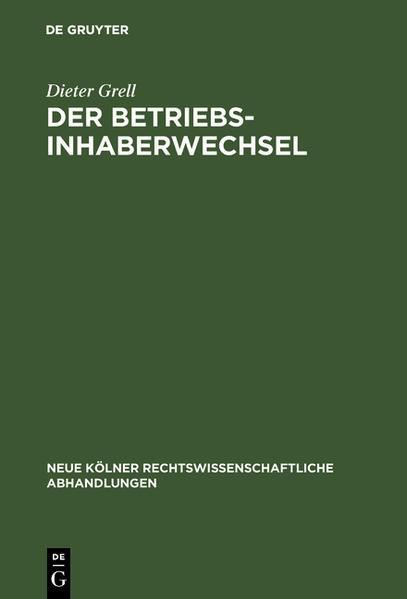 Der Betriebsinhaberwechsel - Coverbild
