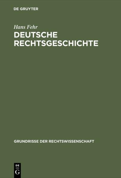 Deutsche Rechtsgeschichte - Coverbild