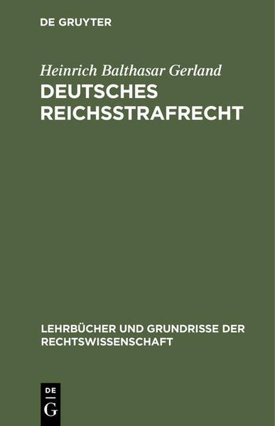 Deutsches Reichsstrafrecht - Coverbild