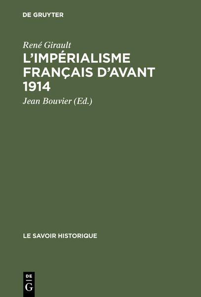 L'impérialisme français d'avant 1914 - Coverbild