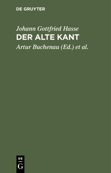 Der alte Kant - Coverbild